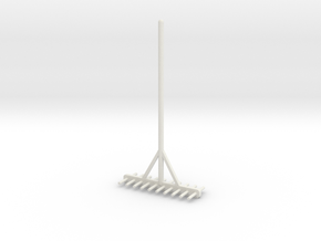 Miniature rake 1/12 in White Natural Versatile Plastic