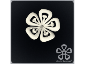 Lucy flower charm. in White Strong & Flexible