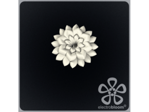 Betty flower charm. in White Natural Versatile Plastic