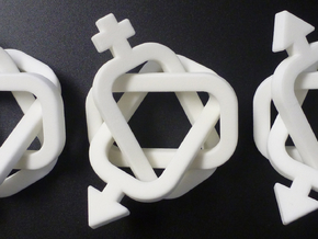 A set of equivalent Borromean rings in White Natural Versatile Plastic