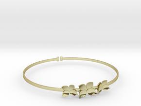 Bracelet - Dogwood Flowers (Size L) in 18k Gold Plated Brass