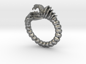 Viper Fish Ring  in Natural Silver