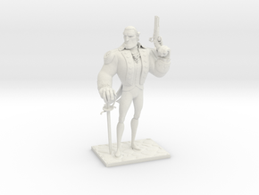 TheColonial (Small) in White Natural Versatile Plastic