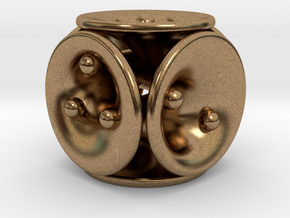 tubes&spheres dice in Natural Brass