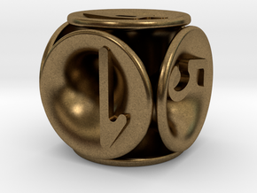 tubes&numbers dice in Natural Bronze