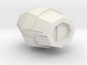 Rebel Airlock in White Natural Versatile Plastic