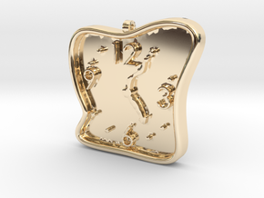 Clock Pendant in 14K Yellow Gold