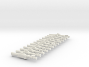 30mm Scale Carbines x12 in White Natural Versatile Plastic