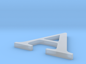Letter-A,  in Smooth Fine Detail Plastic