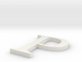Letter-P in White Natural Versatile Plastic