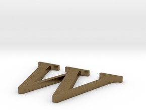 Letter-W in Natural Bronze