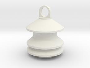 Model 2 Siren Keychain in White Natural Versatile Plastic
