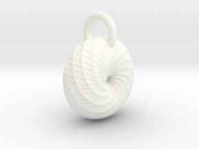 Spiral Pendant in White Processed Versatile Plastic