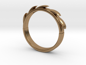 Sun flower Ring in Natural Brass