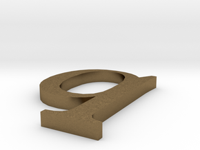 Letter- q in Natural Bronze