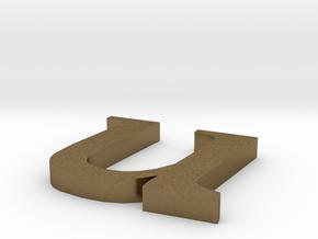 Letter- u in Natural Bronze