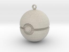 Pokeball in Sandstone