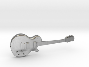 Les Paul Guitar 1:18 in Natural Silver