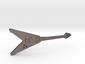 Gibson Flying V Guitar 1:18 in Polished Bronzed Silver Steel