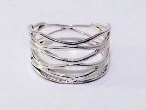 Grid Ring Size 9 (All Sizes) in Polished Silver