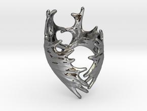 (Size 6) Moose Antler Ring in Fine Detail Polished Silver