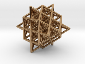 Isometric Vector Matrix - 64 Tetrahedron Grid  in Polished Brass