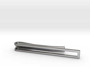 Minimalist Tie Bar in Fine Detail Polished Silver