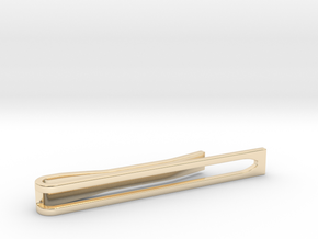 Minimalist Tie Bar - Wedge in 14K Yellow Gold