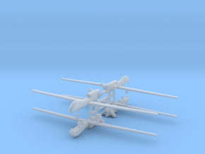 1/600 RQ-4 Global Hawk (x4) in Smooth Fine Detail Plastic