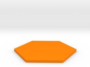 Hexagon  in Orange Processed Versatile Plastic