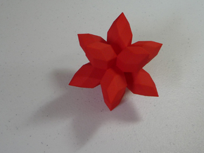 12-Pointed Zome Star in White Processed Versatile Plastic
