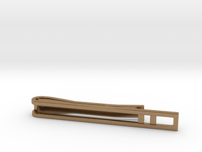 Minimalist Tie Bar - Double Bar in Natural Brass
