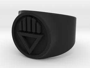 Black Death GL Ring Sz 7 in Black Strong & Flexible