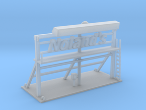 Nolands Roof Top Sign Z Scale in Smooth Fine Detail Plastic