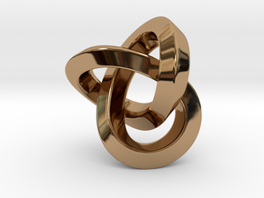 Knot Pendant 30mm in Polished Brass