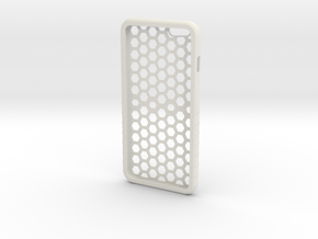 Iphone 6plus Honeycomb in White Natural Versatile Plastic