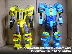 Gen. Nightbeat Upgrade Kit #1 - Height Increase in Blue Strong & Flexible Polished