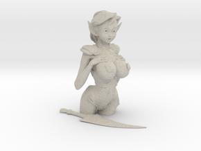 """3.5"""" Fantasy Elf in Armor in Natural Sandstone"""