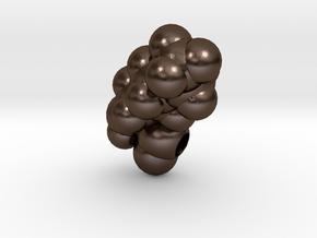 K is Lysine in Polished Bronze Steel