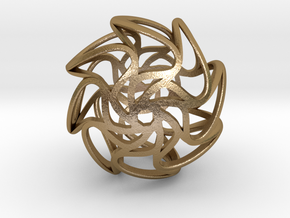 Sun Sphere in Polished Gold Steel