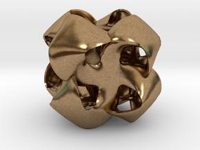 Pinwheel 1 in Natural Brass