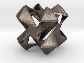 Pinwheel 2 in Polished Bronzed Silver Steel