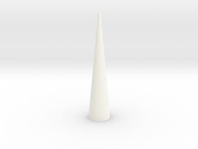 Black Brant lll Nose Cone BT55 PT2 in White Processed Versatile Plastic