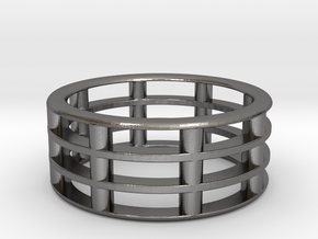 Bar Ring in Polished Nickel Steel