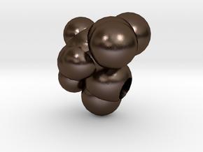 D is Aspartic Acid in Polished Bronze Steel