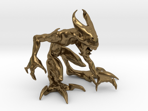 """2.5"""" Small Croutching Fire Sprite in Natural Bronze"""