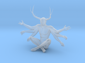 38mm Six Armed Stag in Smooth Fine Detail Plastic