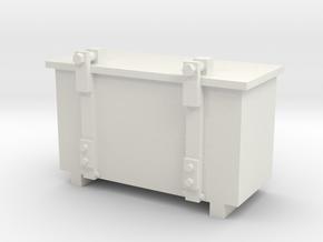 1:29 Scale Cab Signal Box in White Natural Versatile Plastic
