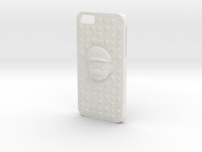 Mario iPhone 6 Case in White Natural Versatile Plastic