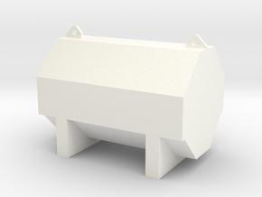 Dieseltankwdoor in White Processed Versatile Plastic